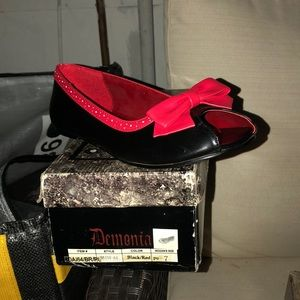 Red and black demonia slippers NEW!!